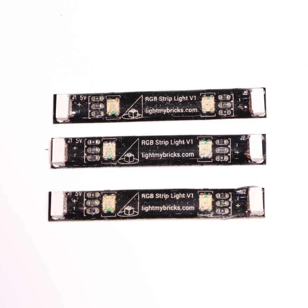 2 paczka taśmy świetlne RGB lub RGB Bit światła budowy modelu materiału LED światła wbudowany bezprzewodowy składnik do LEGO oświetlenie DIY zabawki