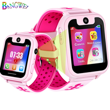 BANGWEI Hot Sale Children Phone Watch LBS Positioning Remote Monitoring Lighting SOS Kid Smart Voice Chat SIM Card Camera