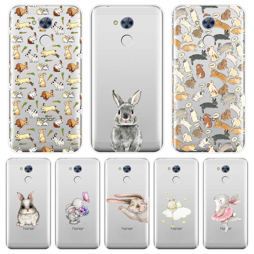 Phone Case For Huawei Honor 6A 4C 5C 6C Pro Soft Silicone Kawaii Rabbit Cartoon Cute Back Cover For Huawei Honor 6 5A 4X 5X 6X