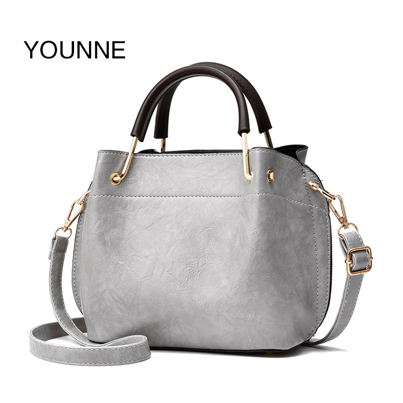 YOUNNE Brand Luxury Women Handbag Pu Leather Fashion Flap Female Casual Small Bag Solid Pleated Shoulder Bags Tote 2018 Women
