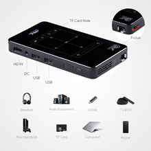 AUN MINI proyector D7 Android 6,0 Beamer incorporada de 2,4g/5G WIFI Bluetooth 4.000 mAh batería ¿HDMI? Soporte para proyector DLP 4 K
