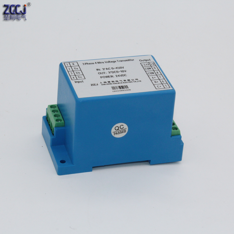 3 phase 3 wire 3 phase 4 wire 0 450V Din type 3 phase voltage transmitter