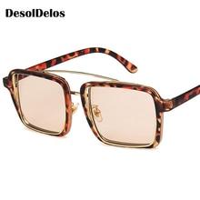 Square Sunglasses Women Brand Designer Clear Lenses Sun Glasses Female Three Colors Big Frame Party Eye Oculos 2019 New