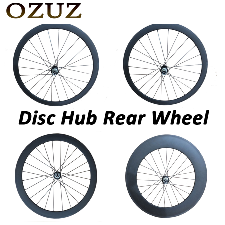 Disc Hub 6 bolt OZUZ 700C 24mm 38mm 50mm 60mm 88mm Clincher Tubular Road Bike Bicycle Light Carbon Wheels Racing Only Rear Wheel low price for sale oem 700c full carbon disc wheels front road bike fixed gear single speed bicycle wheel rear tubular clincher