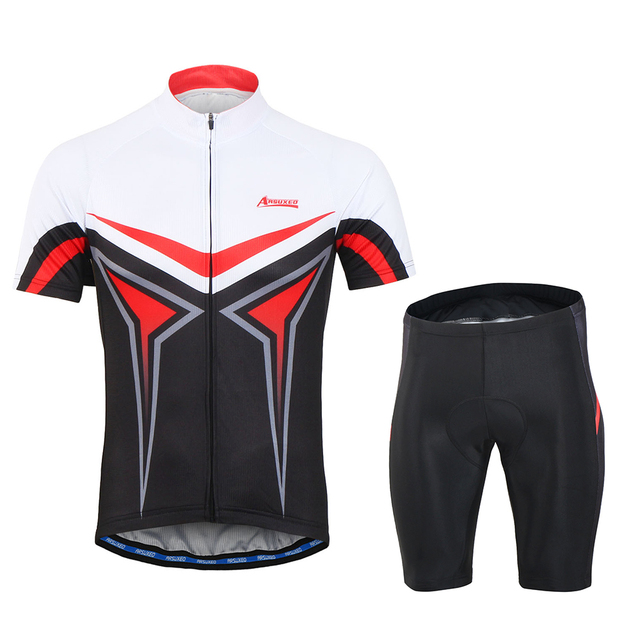 5e6c65ac7 Arsuxeo Men s Breathable Short Sleeve Cycling Jersey Shirt 3D Padded Shorts  Set Cycling Running Suit Clothing Set Sportswear
