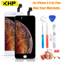2018 KHP AAAA No Dead Pixel LCD Screen For iPhone 6 5 6s Plus LCD Display Digitizer 3D Touch Module Replacement Screen LCDS