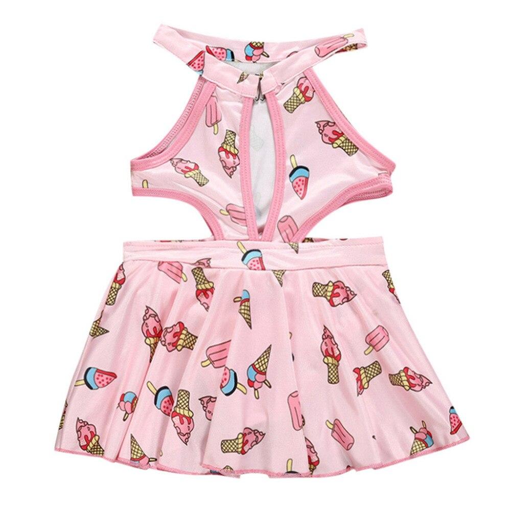 Temperato Bambini Costumi Da Bagno Per Le Ragazze Del Cotone A Due Pezzi Costume Da Bagno Per Bambini Costume Da Bagno Bikini Beach Ice Cream Stampa Costumi Da Bagno K0307 Fabbricazione Abile