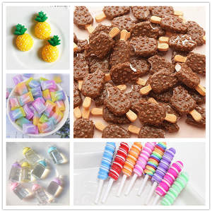 DIWONI 5 Pcs Candy Toy for Slime Clay Charm DIY Decoration