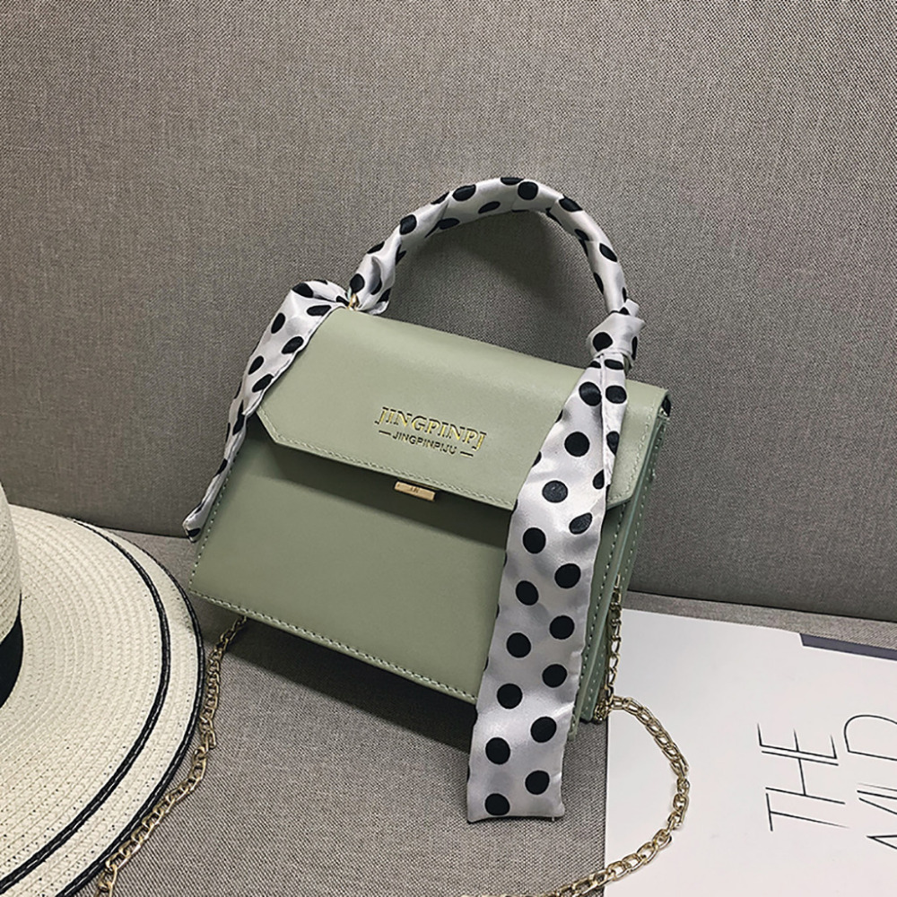 2019 Women Scarf Wild Vintage Messenger Bag Fashion One-Shoulder Small Square Ladies Crossbody Messenger Female Bag