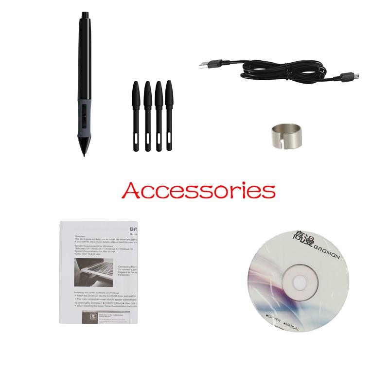 Gratis Verzending Hot Koop GAOMON 860 T Grafische Tablet Digitale Pen - Computerrandapparatuur - Foto 6