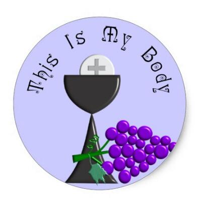 1.5inch The Eucharist Chalice & Communion Host Gifts Classic Round Sticker