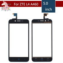 10pcs/lot 5.0 For ZTE Blade L4 A460 LCD Touch Screen Digitizer Sensor Outer Glass Lens Panel Replacement 5 0 for zte blade a315 lcd touch screen digitizer sensor outer glass lens panel replacement