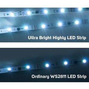 Image 4 - WS2811 rgb ledストリップライト5050 smdアドレス可能30 48 60 96 144 led外部1 ic制御3 leds高輝度通常のledライトDC12V