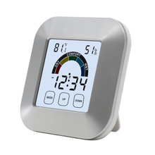 Original LCD Display Digital Time Clock Desk Table Thermometer Hygrometer Electronic Touch Type Weather with Magnets