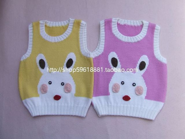 2d61a9086 Hand woven978 baby wool baby girls boys cardigan vest Cartoon jacket ...