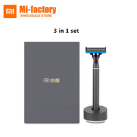 In Stock 3 In 1 Set Xiaomi Mijia Men Shaver Razor German Importing Shaving Head Lemon