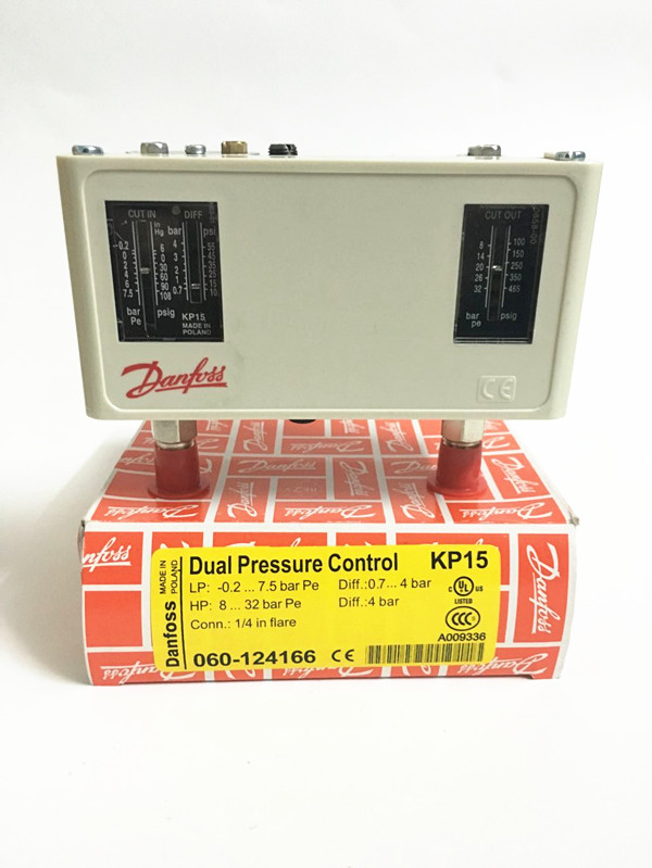 Pressure controller switching relay KP15 060-1241 new and original kp15 060 1264 kp15 060 1265 double pressure switch high and low voltage pressure controller
