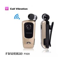 2015 Original Brand FineBlue F920 Wireless Bluetooth Headphone Calls Remind Vibration Wear Clip Headset For IPhone