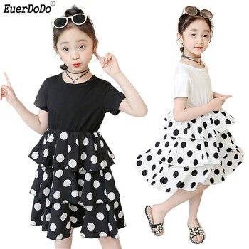 153e230fdf0c Party Dress For Girls 3 4 6 8 10 12 Years Kids Summer Clothing Children  Girl Dresses Polka Dot Girls Princess Dress