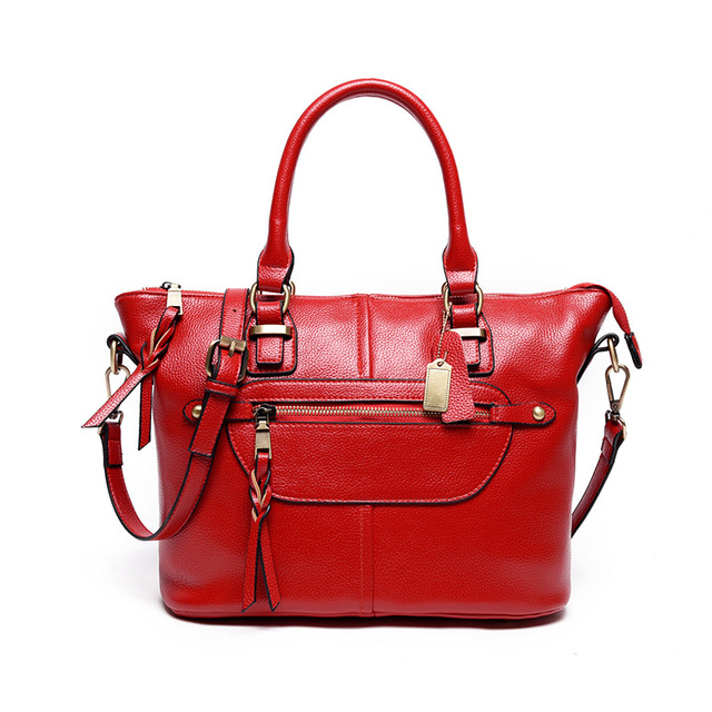 RanHuang Women Vintage Saffiano High Quality Split Leather Handbags Ladies Red Shoulder Bags Fashion Messenger Bags bolsa femini