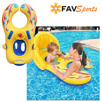 Safety Swimming Rings Baby Inflatable Pool Float With Sunshade Swimming Seat Boat Pool Accessories Circle