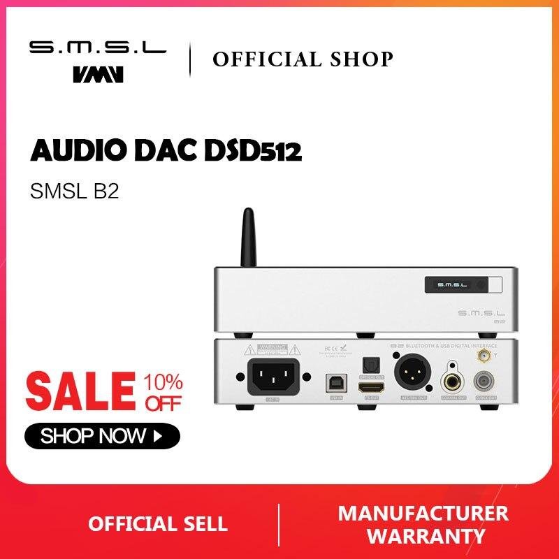 SMSL B2 Interface USB interface digital de Alta Precisão Fonte de Relógio Bluetooth para I2S Coaxial/Optical/AES/BNC