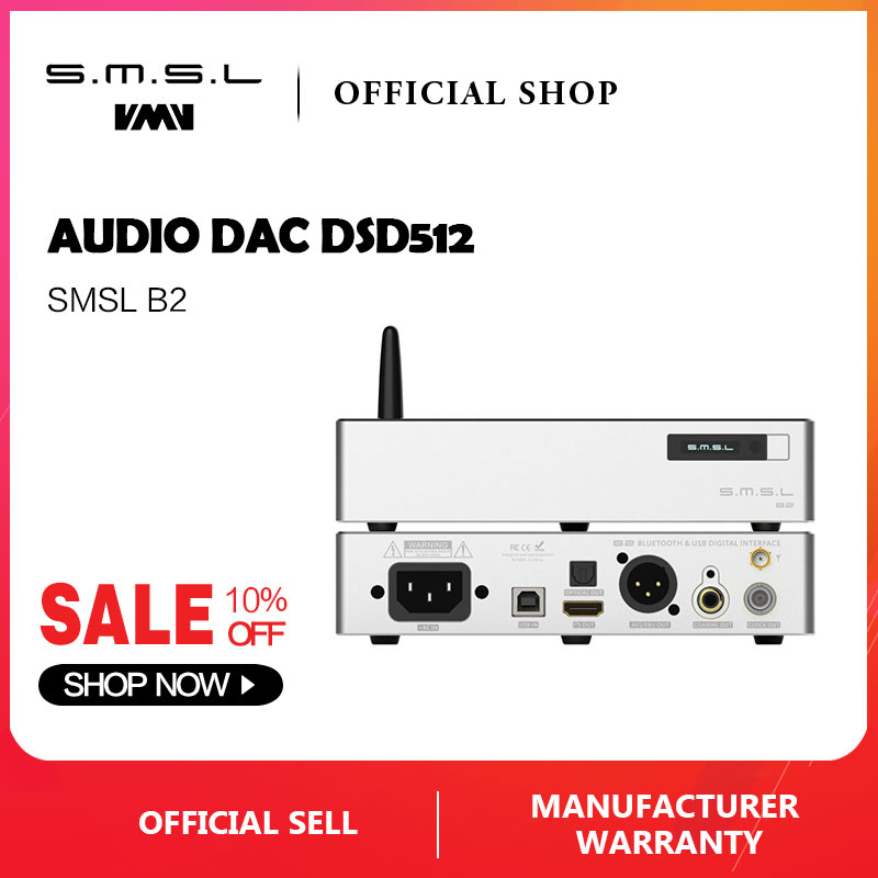 SMSL B2 USB Interface High Precision Clock Source Bluetooth digital interface to I2S Coaxial/Optical/AES/BNCSMSL B2 USB Interface High Precision Clock Source Bluetooth digital interface to I2S Coaxial/Optical/AES/BNC