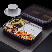 Lunch box 304Stainless Steel Portable Picnic office School Food Container With Compartments Microwavable Thermal Bento Box