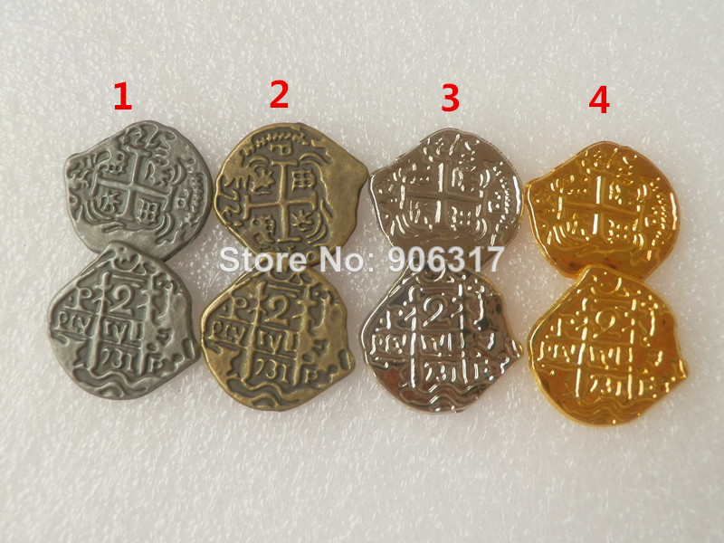 US $0 35 |Pirate European Treasure Spain Doubloon gold coin Difference  colors toy coins for choose 1pcs/lot-in Non-currency Coins from Home &  Garden