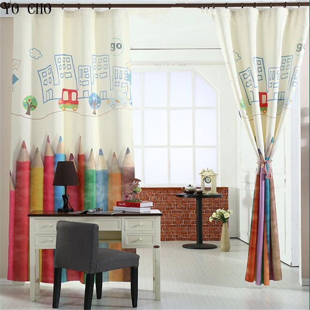 Gardinen Stores Modern Us 39 61 29 Off High Quality Colored Pencils Digital Print Gardinen Velvet Curtain 3d Curtains Modern Curtain For Living Room Blackout Curtains In