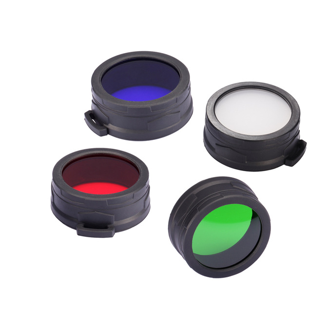 Free Shipping NITECORE NFR60 NFB60 NFG60 NFD60 Filter Suitable For The Flashlight With Head Of 60mm