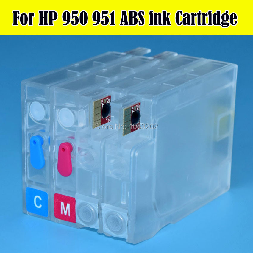 4 PCS 950 XL 951XL For HP 950 951 Refillable Ink Cartridge For HP Officejet Pro 8100 8600 8610 251dw 276dw With ARC Chips