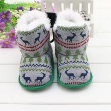 New Arrival Winter Fashion Deer Totem Baby Snow Boots Boy's & Girl's Warm Plush Toddler Shoes Comfort Kids Boots Newborn Gift