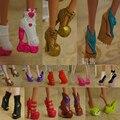 5 Пар/лот Бесплатная Доставка Моды Обувь Для Монстр Куклы Красивые Высокие Каблуки Монстр Кукла Сандалии Сапоги Смешанного Стиля Обувь