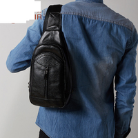 New Genuine Leather Men S Casual Fashion Men S Chest Simple Messenger Bags A4239