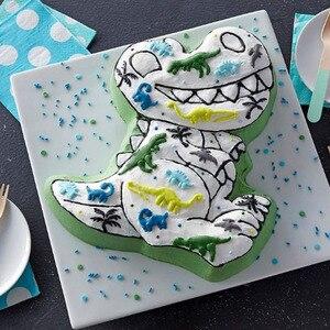 Image 3 - 3D dinozaur kształt ciasto Cookie formy kremówka ciasto dekorowanie narzędzia galaretki formy kuchnia ciasto narzędzie do pieczenia
