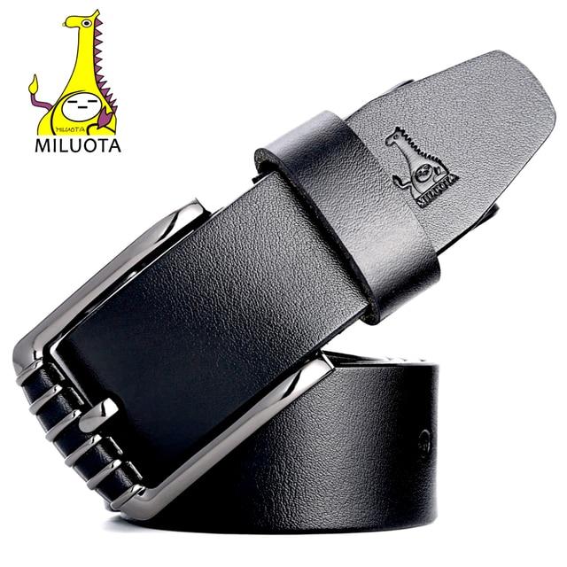 [MILUOTA]  Men Belt Fashion Designer Strap Male High Quality Cow Genuine Leather Belts for Men MU064