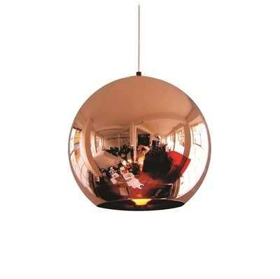 Современный светодиодный люстра кулон вручение потолочный светильник лампа в виде светящегося шара Медь/на щиколотке; цвет золотой, серебряный солнцезащитные очки E27 бар Кухня