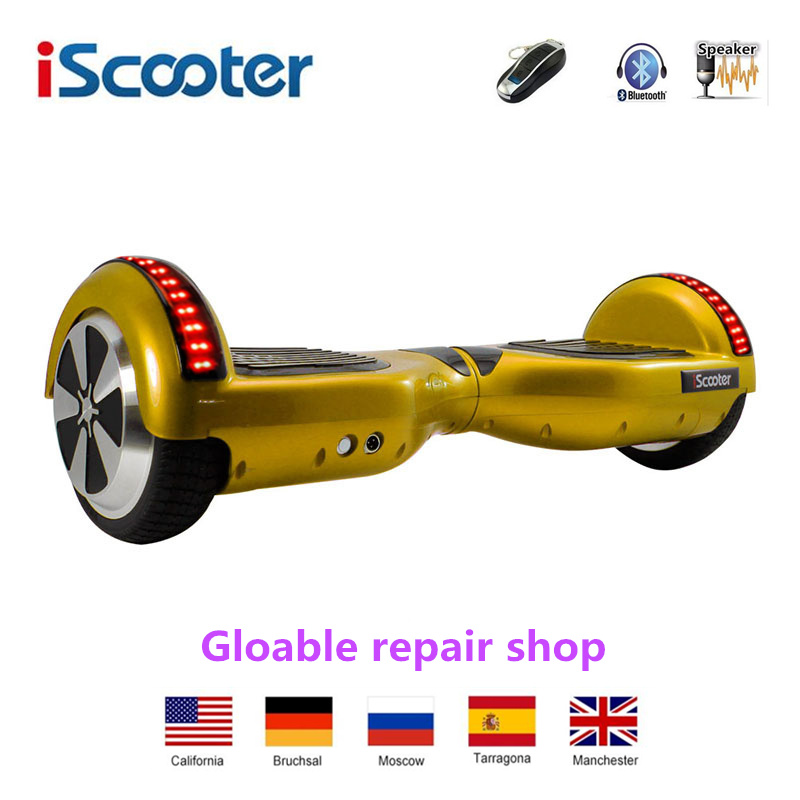 UL2272 IScooter 6.5inch  Smart Steering-Wheel Hoverboard Self  Balance Scooter Outdoor Sport Electric Skateboard With Bluetooth