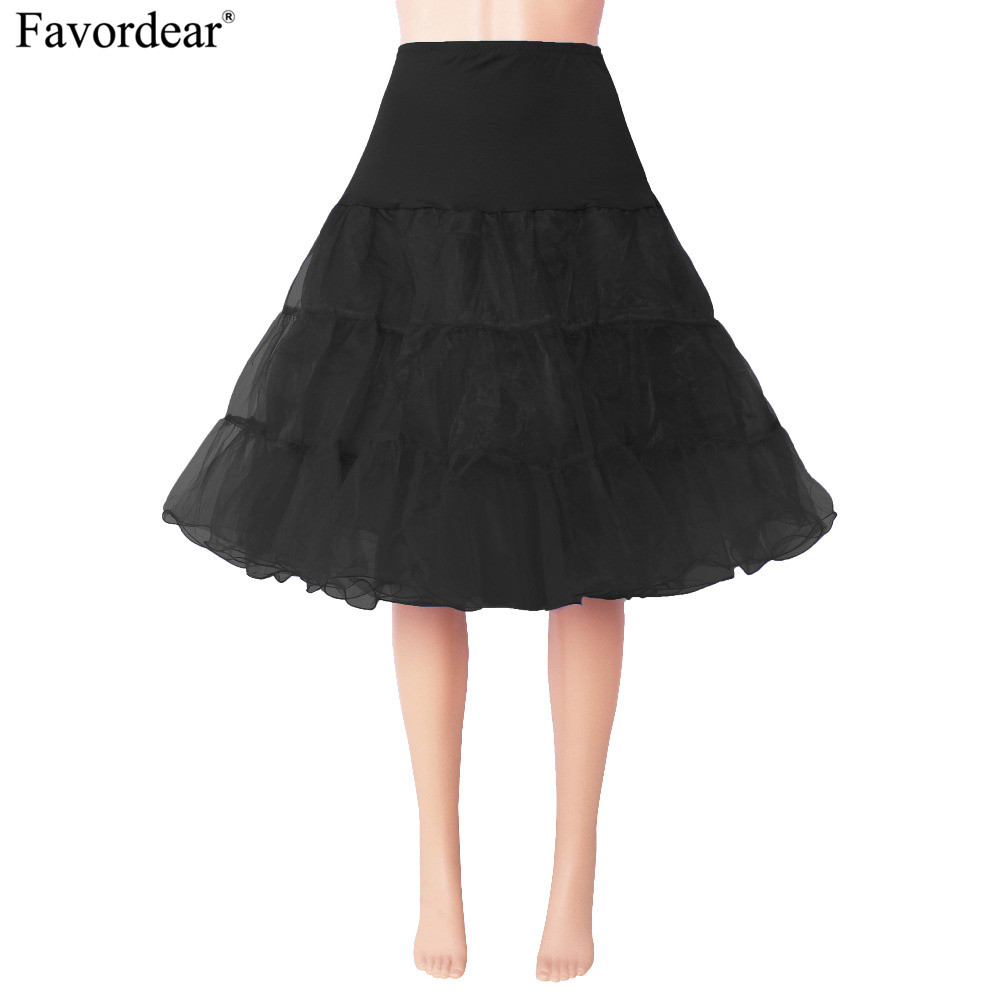 Favordear New Arrival Hoopless Petticoat Skirts Tutu Crinoline Underskirt For Women