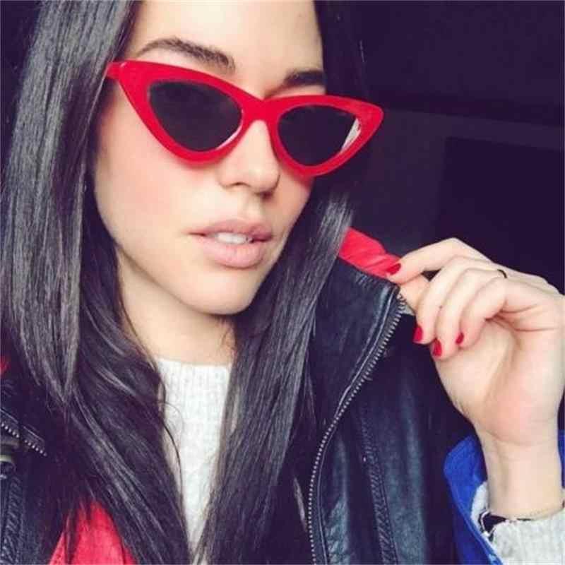 89bf04d751 ... Lolita Retro Cateye Sunglasses Triangle Shades For Women Small Black Sunglasses  Thin Frame Vintage Sun Glasses ...