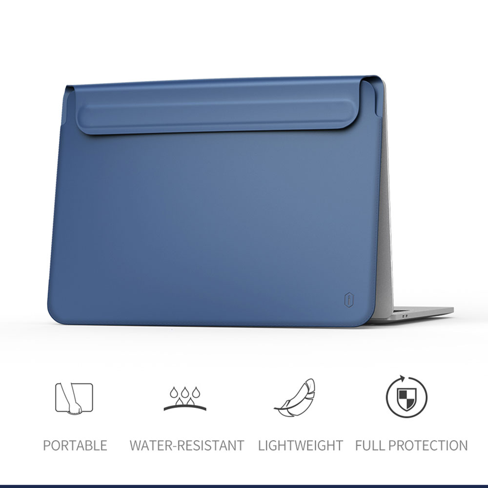 WIWU Newest Laptop Sleeve for MacBook Air 13 Case Waterproof Laptop Bag Case for MacBook Pro 13 15 PU Leather Notebook Bag Case-in Laptop Bags & Cases from Computer & Office