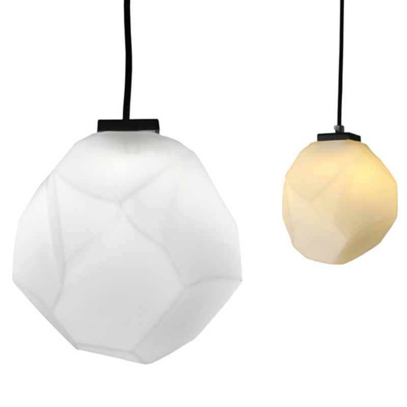 ФОТО Modern Nordic Brief Milk White Glass Stone Led E14 Pendant Light For Dining Room Hallway Corridor Living Room Deco 1992