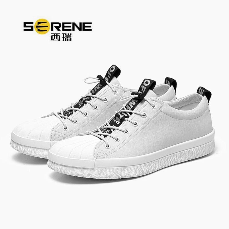 Sport Top Nouvelle 6368 Black Mode ChaudePrintemps Cuir Arrivée Serein Scission En Low white Chaussures 2018 Vente Automne Populaire Hommes De wmNO8n0v
