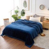 Effen Kleur Flanel Coral Fleece Deken Super Zacht Dekbed Sofa Cover Winter Warme Lakens Gemakkelijk Wassen Faux Bont Dekens|Deken|   -
