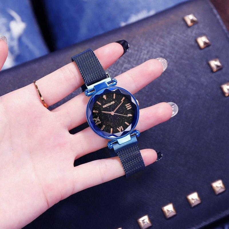 Luxury Brand Women Watches Ladies Starry Sky Magnet Buckle Clock Diamond Watch Relogio Feminino Wrist Watches for Women 5
