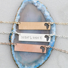 2018 New Arrival Africa Charm Necklace Personalized Bar Aliexpress Top-selling Accept Drop Shipping YP6357