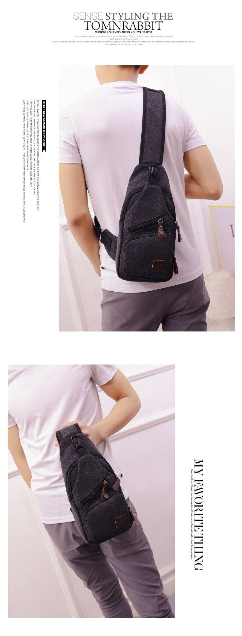 3da44f1836 New Sling Bag Canvas Chest Pack Men Messenger Bags Casual Travel Fanny Flap  Male Small Retro Shoulder Bag 15 6 33 Cm. NB401 01 NB401 02 ...