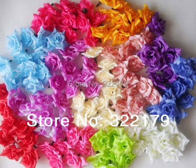 Artificial silk flower heads bulk 100 pcs 4cmsilk rose head artificial silk flower heads bulk 100 pcs 4cmsilk rose head wholesale lots for wedding christmas decor mightylinksfo