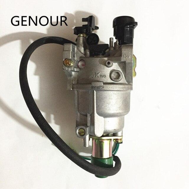 Ruixing carburateur pour moteur GX390, générateur de gaz 5kw, EC6500 188F 389CC, Ruixing meilleure marque avec starter automatique
